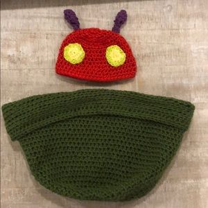 Other - The Very Hungry Caterpillar Crocheted Newborn